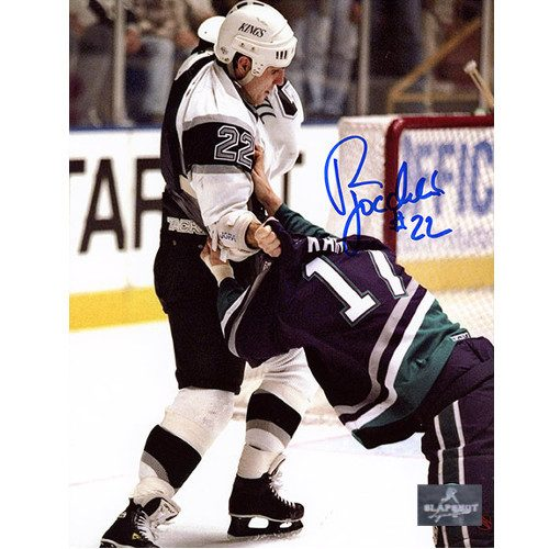 Rick Tocchet LA Kings Signed Fight vs. Ducks 8x10 Photo