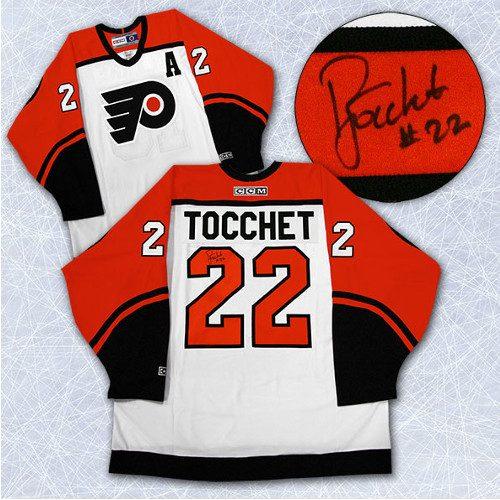 Rick Tocchet Signed Jersey-Philadelphia Flyers CCM Vintage Jersey