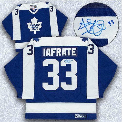 Al Iafrate Signed Jersey-Toronto Maple Leafs Retro CCM