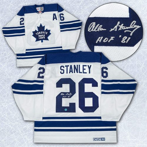 Allan Stanley Signed Jersey-Toronto Maple Leafs Retro CCM