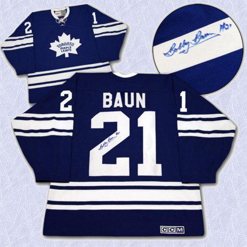 Bobby Baun Signed Jersey Toronto Maple Leafs Retro CCM