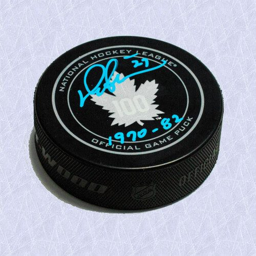 Darryl Sittler Signed Puck Toronto Maple Leafs Centennial With Years Played