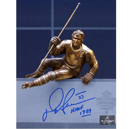 Darryl Sittler Autographed Photo Toronto Maple Leafs Legends Row Statue 8x10