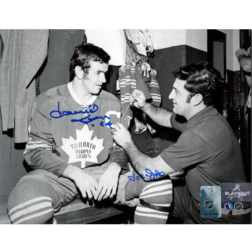 Dave Keon and Joe Sgro Toronto Maple Leafs Dual Signed New Captain 8x10 Photo