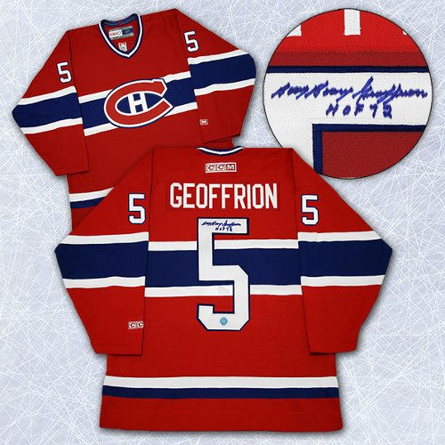 Bernie Geoffrion Signed Jersey-Montreal Canadiens Retro CCM