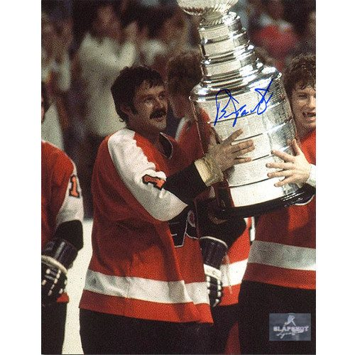 Bernie Parent Autographed Photo-Philadelphia Flyers Champs 8x10