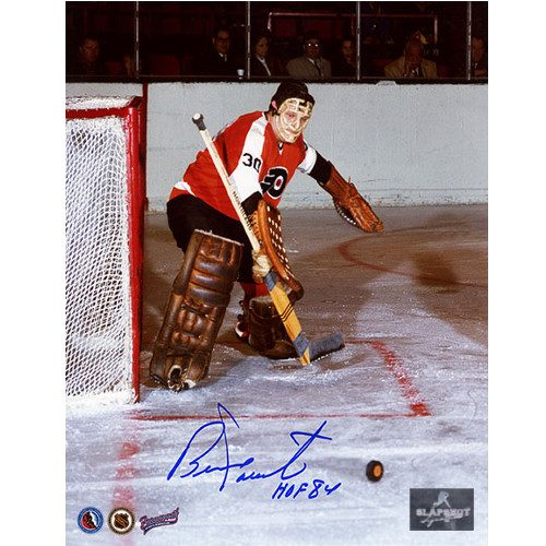 Bernie Parent Philadelphia Flyers Signed Photo 8x10 Expansion Season
