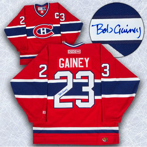 Bob Gainey Signed Jersey-Montreal Canadiens Retro CCM