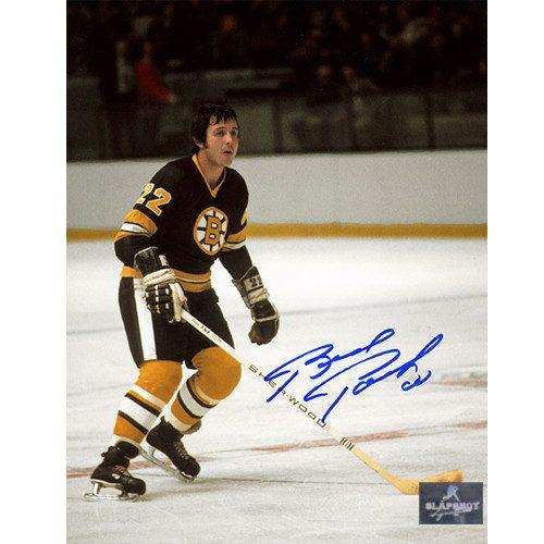 Brad Park Boston Bruins Signed Photo Game Action 8x10