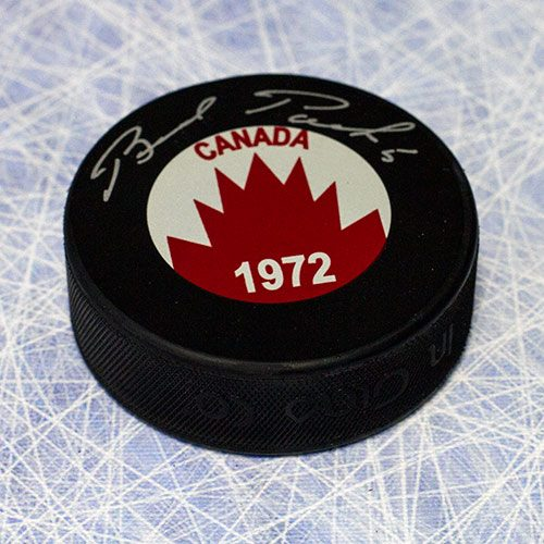 Brad Park Team Canada Signed 1972 Summit Series Hockey Puck