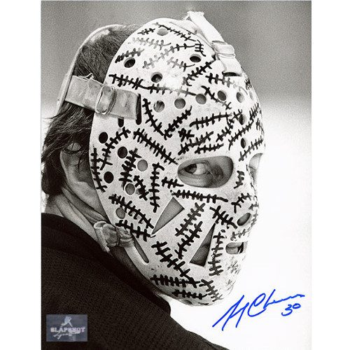 Gerry Cheevers Mask Close Up Signed Photo-Boston Bruins 8x10
