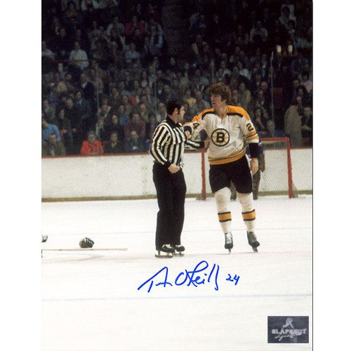 Terry O'Reilly Boston Bruins Signed Enforcer Post Fight Photo 8x10