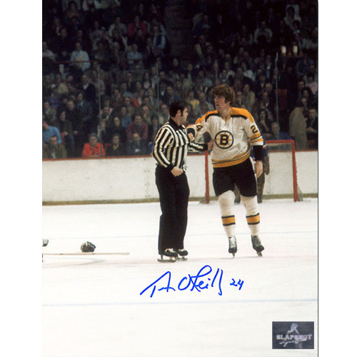 Terry O'Reilly Boston Bruins Signed Enforcer Post Fight