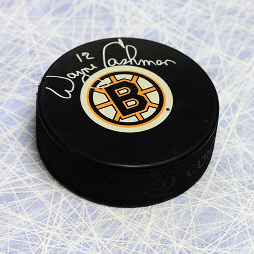 Wayne Cashman Boston Bruins Autographed Hockey Puck