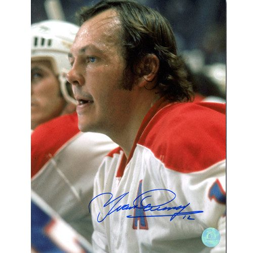 45e11181ee8 Yvan Cournoyer Photo-Signed Montreal Canadiens Bench Close-Up 8x10