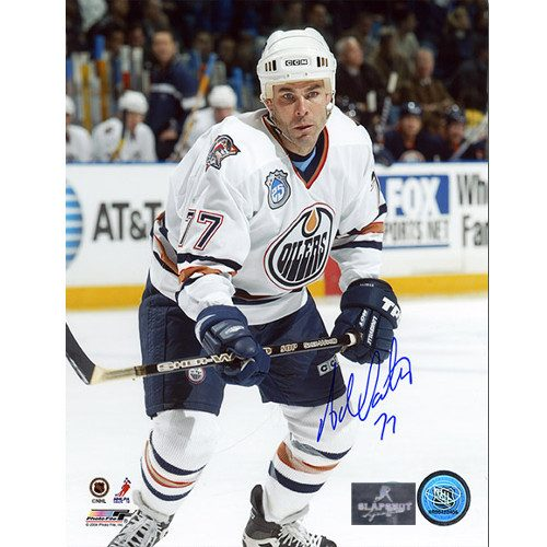 Adam Oates Edmonton Oilers Autographed 8x10 Action Photo