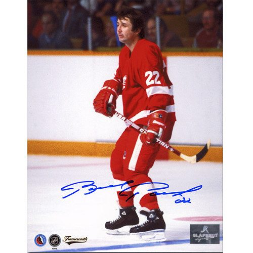 Brad Park Detroit Red Wings Signed Photo Game Action 8x10