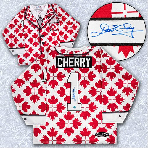 Don Cherry Autographed Jersey Canada Maple Leaf Custom Suit Jersey