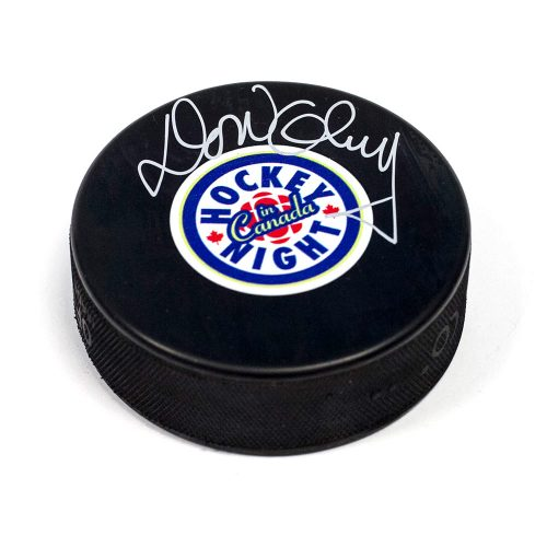 Don Cherry Hockey Night in Canada Autographed Hockey Puck