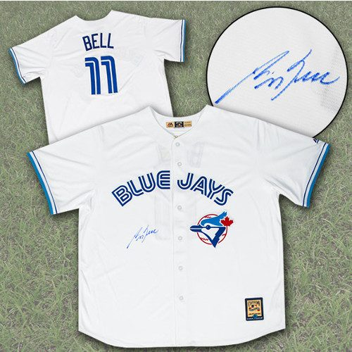 George Bell Signed Jersey-Toronto Blue Jays Retro Jersey