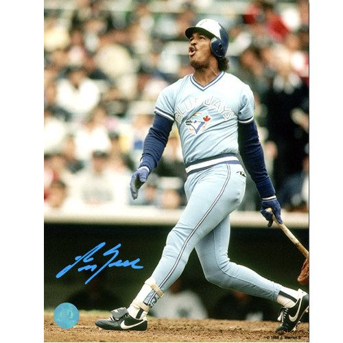 George Bell Toronto Blue Jays Signed 8x10 Batting Photo
