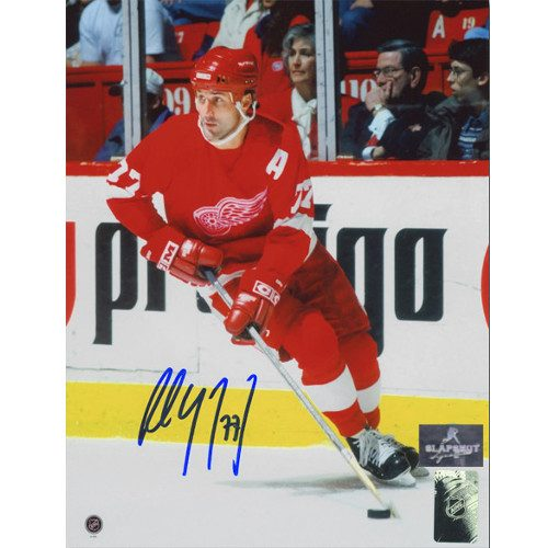 Paul Coffey Detroit Red Wings Autographed Action 8X10 Photo