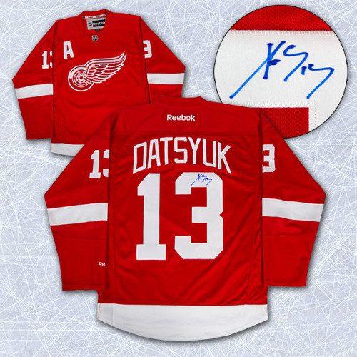 Pavel Datsyuk Signed Jersey-Detroit Red Wings Reebok Premier Hockey Jersey d4f76102ef0