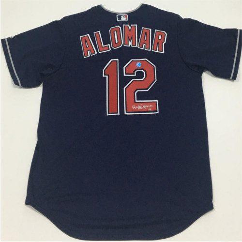 Roberto Alomar Cleveland Indians Signed Replica Baseball Jersey