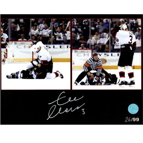 Zdeno Chara Fight vs Lecavalier Ottawa Senators Signed LE/99 Photo 8x10