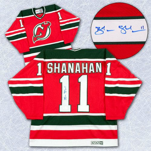 Brendan Shanahan Autographed Jersey-New Jersey Devils Rookie Retro CCM Jersey