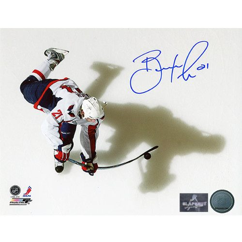 Brooks Laich Washington Capitals Autographed Overhead Sniper 8x10 Photo