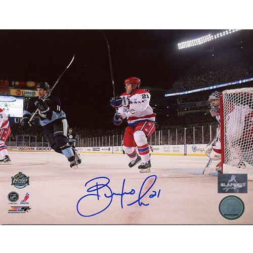 Brooks Laich Winter Classic 2011 Washington Capitals Signed 8x10 Photo