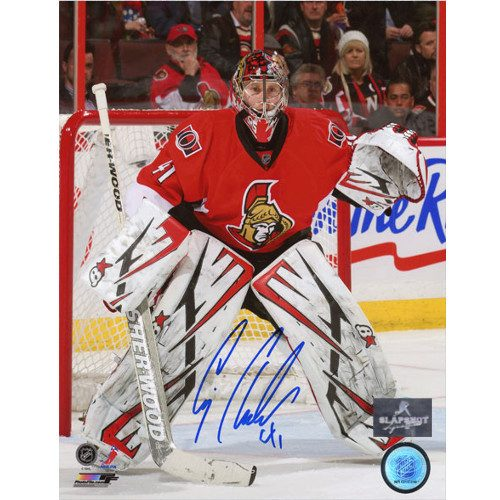 Craig Anderson Ottawa Senators Signed Game Action 8x10 Photo
