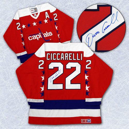 Dino Ciccarelli Signed Jersey-Washington Capitals CCM Vintage c7a8b3c1e19