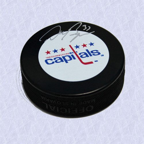 Don Beaupre Autographed Hockey Puck Washington Capitals