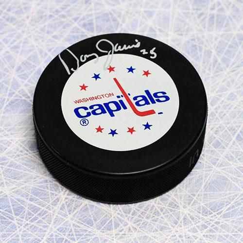 Doug Jarvis Washington Capitals Autographed Hockey Puck