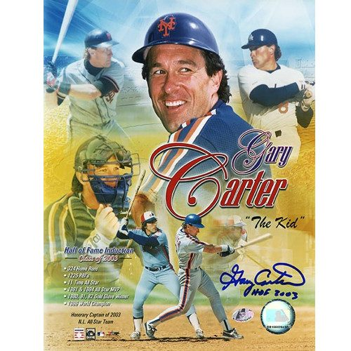 Gary Carter Montreal Expos Signed Hall of Fame Collage 8x10