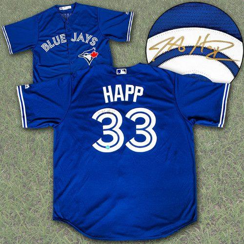 JA Happ Jersey-Toronto Blue Jays Signed MLB Replica Jersey
