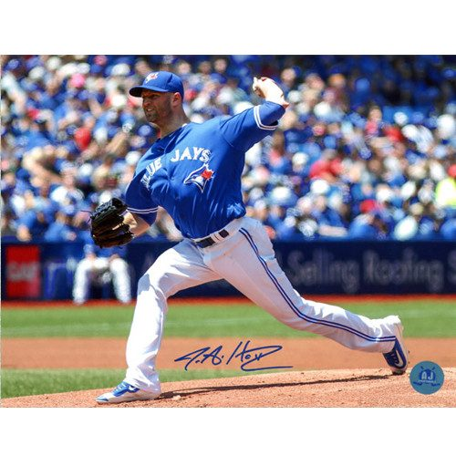 JA Happ Picture-Toronto Blue Jays Signed Home Start 8x10 Photo
