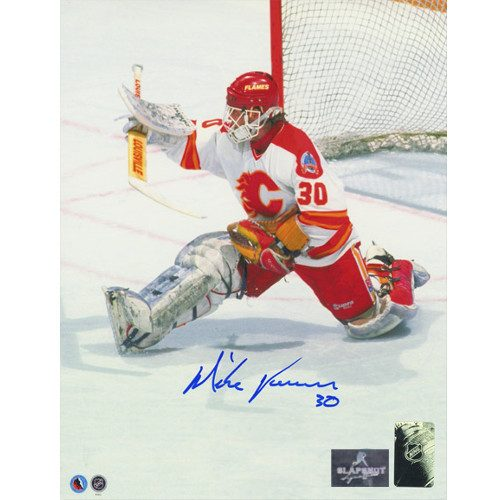 Mike Vernon Calgary Flames 1989 Cup Finals Signed Photo 8x10