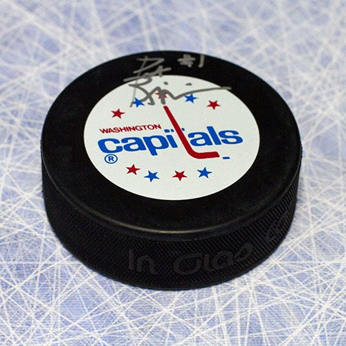 Pat Riggin Washington Capitals Autographed Hockey Puck