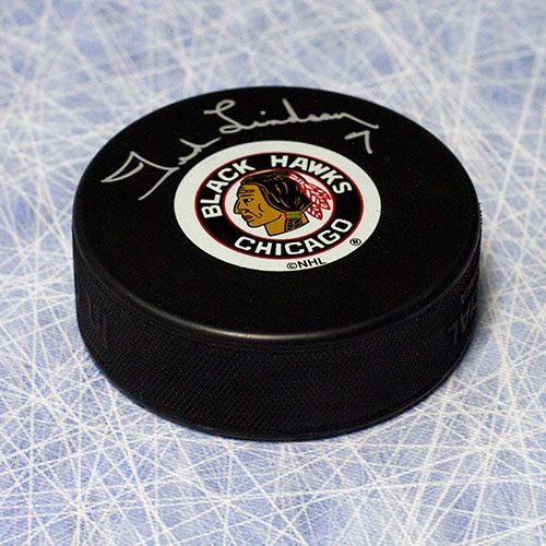 Ted Lindsay Chicago Blackhawks Autographed Hockey Puck