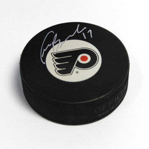 Craig Berube Philadelphia Flyers Autographed Hockey Puck