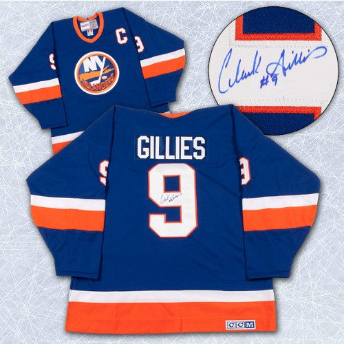 online store bb91b 8d77e Clarke Gillies Autographed Jersey New York Islanders Retro CCM Hockey Jersey