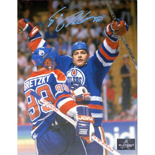 Esa Tikkanen Edmonton Oilers Autographed Celebration with Gretzky 8x10 Photo