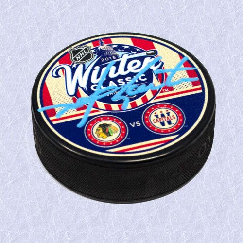Mike Gartner Winter Classic Puck Autographed 2015 Washington Capitals