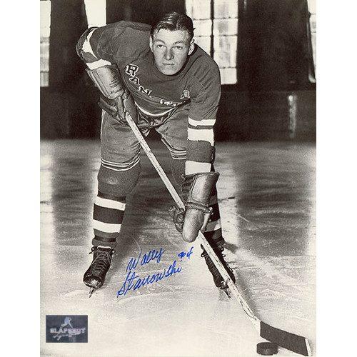 Wally Stanowski New York Rangers Autographed 8x10 Photo