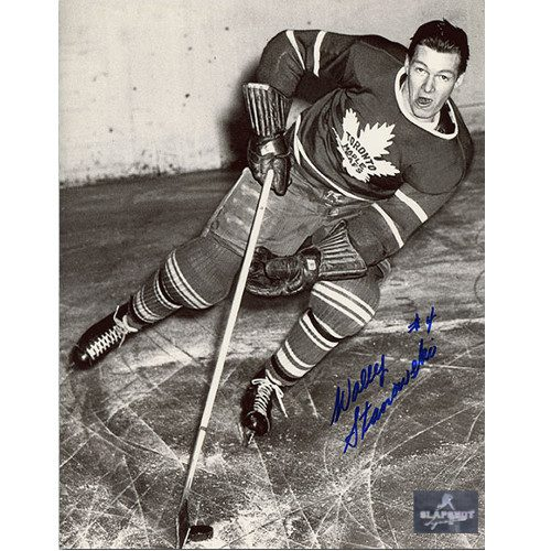 Wally Stanowski Toronto Maple Leafs Autographed On Ice 8x10 Photo