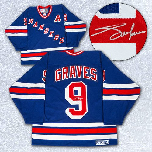 Adam Graves Autographed Jersey-New York Rangers Retro CCM Jersey