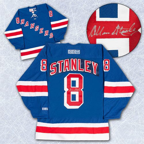 Allan Stanley Signed Jersey-New York Rangers Retro CCM Jersey
